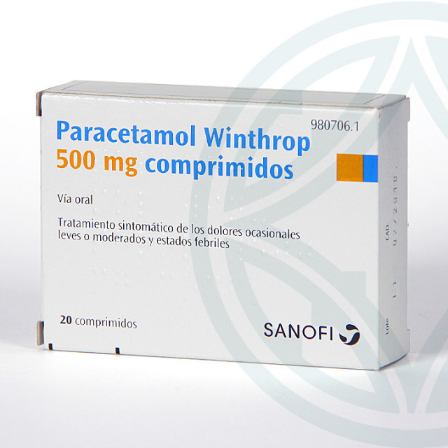Paracetamol Winthrop 500 mg 20 comprimidos