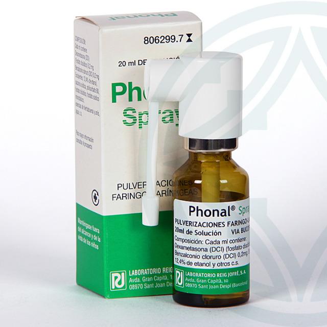 Phonal spray aerosol tópico 20 ml