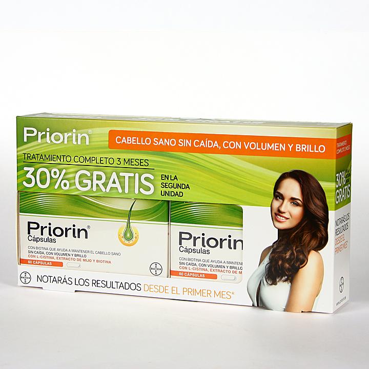 Priorin Cápsulas Anticaída pack 60 + 60 cápsulas