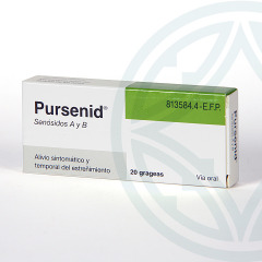 Pursenid 12 mg 20 grageas