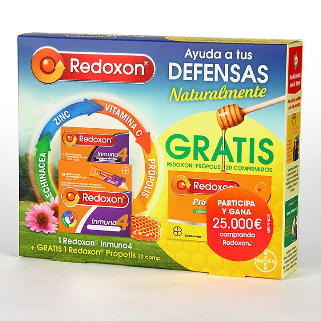 Redoxon Inmuno4 14 sobres + Própolis 20 comprimidos Gratis