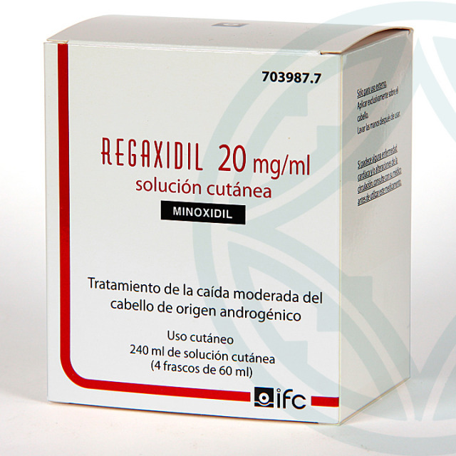 Regaxidil 2% 20mg/ml Solución cutánea 240 ml