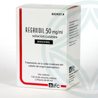 Regaxidil 5% 50 mg/ml Solución Cutánea 120 ml