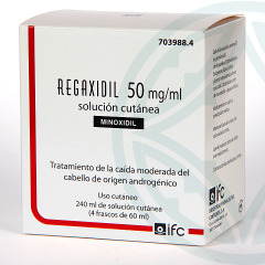 Regaxidil 5% 50 mg/ml Solución Cutánea 240 ml