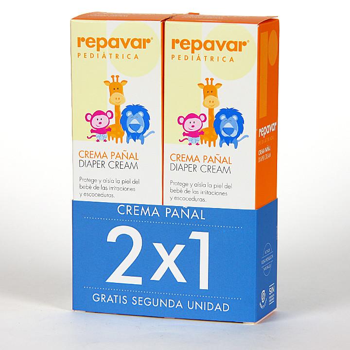 Repavar Pediátrica Crema Pañal 75 ml Pack Duplo 2x1