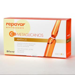 Repavar Revitalizante Metaglicanos Antiage 30 ampollas