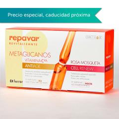 Repavar Revitalizante Metaglicanos Antiage & Cell Renew 15+15 ampollas