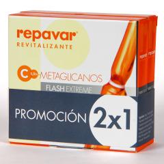 Repavar Revitalizante Metaglicanos Flash Extreme 5 ampollas Pack Duplo 2x1
