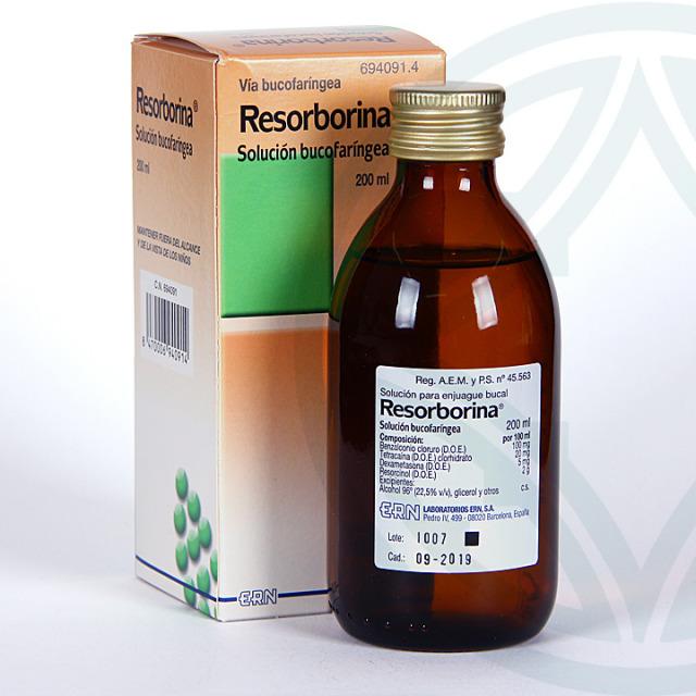 Resorborina Solución bucofaríngea 200 ml