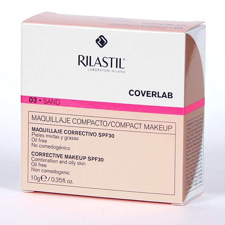 Rilastil Cumlaude Coverlab Maquillaje compacto piel mixta-grasa Sand 03