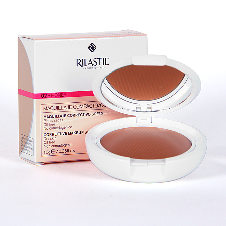 Rilastil Cumlaude Coverlab Maquillaje compacto piel normal-seca Honey 02