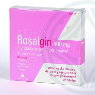 Rosalgin 500 mg granulado para solución vaginal 10 sobres