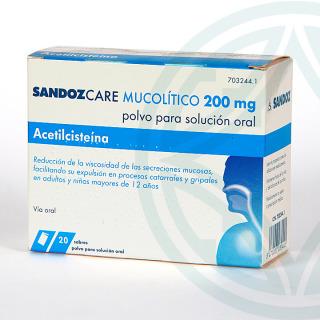 Sandozcare Mucolítico EFG 200 mg 20 sobres