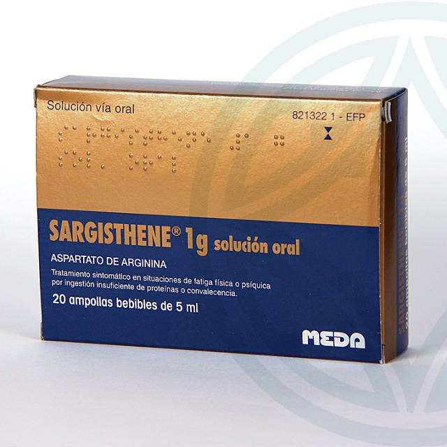 Sargisthene 20 ampollas bebibles