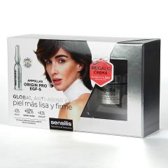 Sensilis Origin Pro EGF-5 30 Ampollas + Minitalla Crema 30 ml Regalo Pack