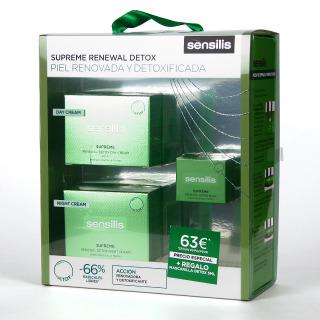 Sensilis Supreme Renewal Detox Crema dia SPF 15 + Crema noche + Minitalla Mascarilla Pack Regalo