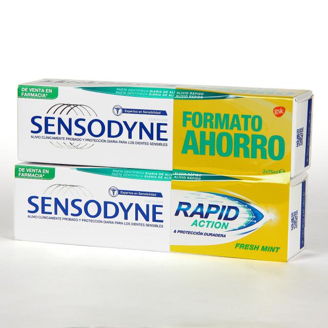Sensodyne Rapid Action Fresh Mint 75 ml Pack Duplo