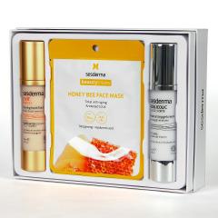 Sesderma C-VIT Fluido Luminoso + Acglicolic Classic Forte Crema Gel + Mascarilla Honey Bee Pack Regalo