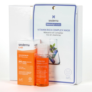 Sesderma C Vit Serum 30 ml + Regalo Sensyses Lightening 40 ml + Beauty Treats Vitamin Complex Mask Pack