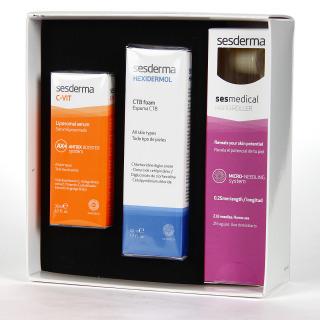 Sesderma C Vit Sérum + Sesmedical Nanoroller + Hexidermol Espuma CTB Pack regalo