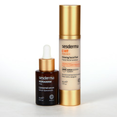 Sesderma Hidraderm Hyal Serum + C-VIT Radiance Fluido Luminoso Pack