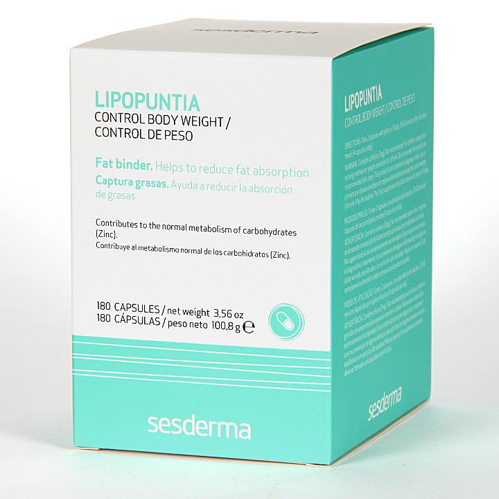 Sesderma Lipopuntia Control de Peso 180 cápsulas