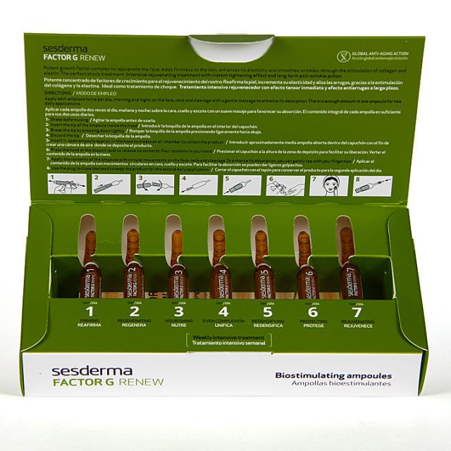 Sesderma Factor G Renew Ampollas Bioestimulantes 7x2ml