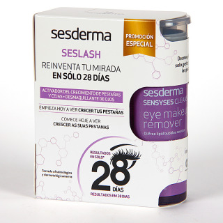 Sesderma Seslash Serum pestañas 5 ml + Sensyses Desmaquillante ojos 100 ml Pack Regalo