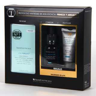 SkinCeuticals C E Ferulic Serum 30 ml + Regalo HA Intensifier 15 ml + Ultra Facial UV Defense SPF50 15 ml