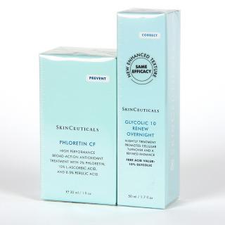 SkinCeuticals Phloretin CF Serum + Glicolic 10 Renew overnight Pack 25%