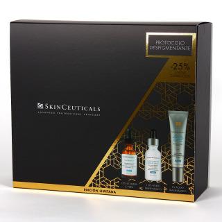 SkinCeuticals Phloretin FC serum + Discoloration Defense serum + Advanced Brightening UV defense Pack 25%