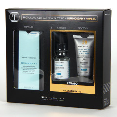 SkinCeuticals Resveratrol B E Gel 30 ml + Regalo Hydrating B5 15 ml + Ultra Facial UV Defense SPF50 15 ml
