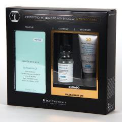 SkinCeuticals Silymarin CF Serum 30 ml + Regalo Hydrating B5 15 ml + Advanced Brightening UV Defense SPF50 15 ml