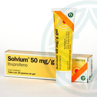 Solvium 50 mg/g gel tópico 30 g