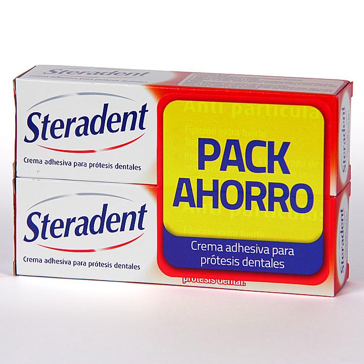 Steradent Crema Adhesiva Pack ahorro 40+40 g
