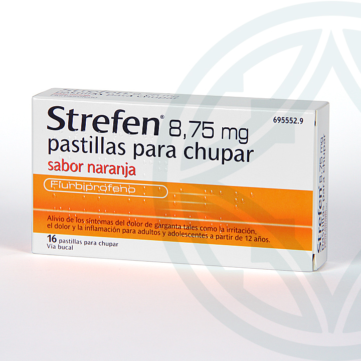Strefen 16 pastillas para chupar sabor naranja