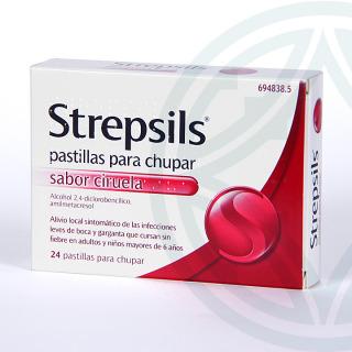 Strepsils 24 pastillas sabor ciruela