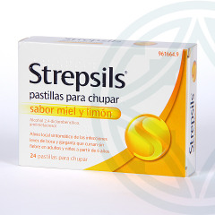Strepsils 24 pastillas sabor miel-limón