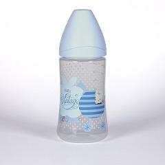 Suavinex Biberón Vintage Azul Boca Ancha 270 ml