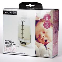 Suavinex Bolsas para leche materna con tapón 20 unidades
