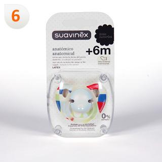 Suavinex Chupete Anatómico Látex 6 meses 1 unidad