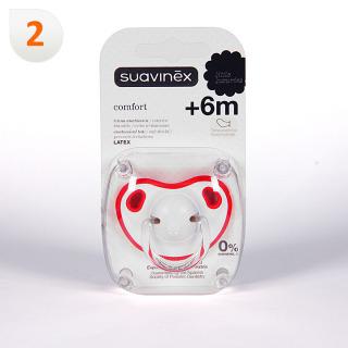 Suavinex Chupete Confort Tetina Anatómica Látex 6 meses 1 unidad