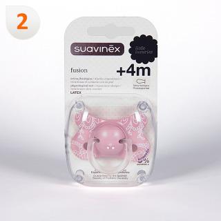 Suavinex Chupete Fusión Tetina Fisiológica Latex 4 meses 1 unidad