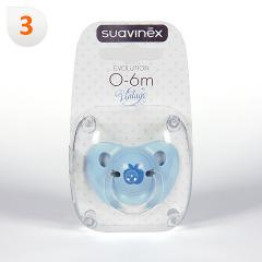 Suavinex Chupete Vintage Azul Anatómico Látex 0-6 meses 1 unidad