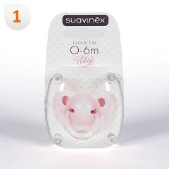 Suavinex Chupete Vintage Rosa Anatómico Látex 0-6meses 1 unidad