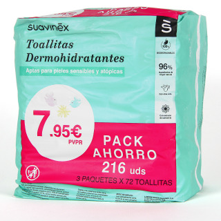 Suavinex Toallitas Húmedas baby Wipes 72 unidades pack Triplo