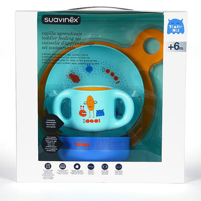 Suavinex Vajilla Aprendizaje +6m Azul