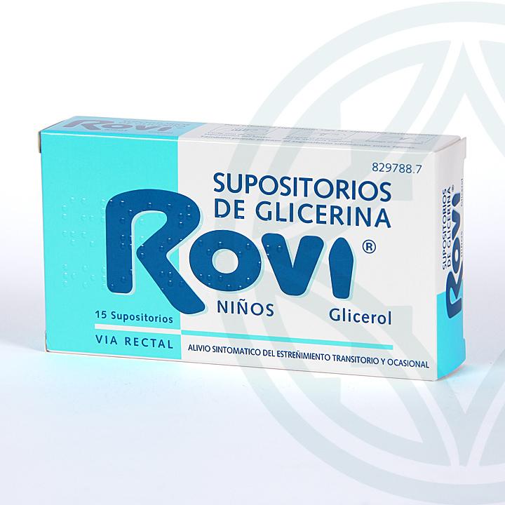 Supositorios Glicerina Rovi Niños