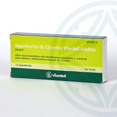Supositorios Glicerina Vilardell Adultos 12 supositorios