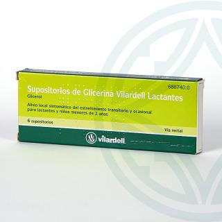 Supositorios Glicerina Vilardell Lactantes 6 supositorios